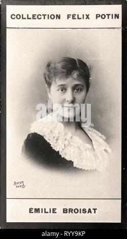 Retrato fotográfico de Broisat Colección de Félix Potin, de principios del siglo XX. Imagen De Stock