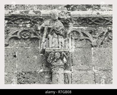 Cerdeña Sassari Perfugas S. Giorgio, este es mi Italia, el país de la historia visual, post-medievales fachada Gothic-Aragonesque 15th-16th siglos. Restaurado en 1926. Arquitectura y algunas de escultura arquitectónica. Perfugas alrededores Imagen De Stock
