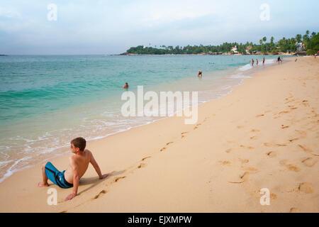 Turista de Unawatuna Beach Imagen De Stock