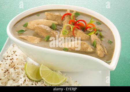 CURRY verde de comida tailandesa Imagen De Stock