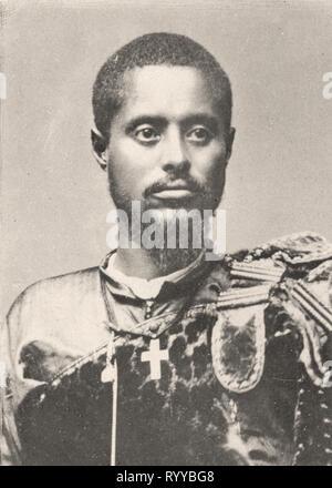 Retrato fotográfico de Makonnen desde la colección Félix Potin, de principios del siglo XX. Imagen De Stock