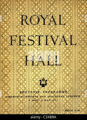 El Festival de Gran Bretaña, programa de recuerdo para cubrir Ceremonia de Inauguración y conciertos inaugurales Imagen De Stock