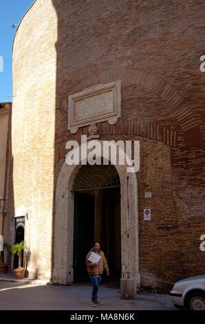 El valor del patrimonio para el restaurante Ristorante Terme di Diocleziano en Via del Viminale, Roma Imagen De Stock
