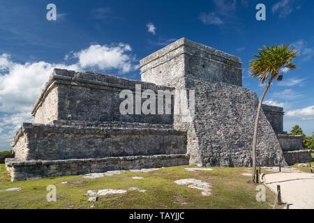 Ruinas del Templo Maya de Tulum, Yucatán, México Imagen De Stock