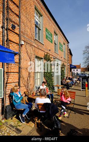 Número veintinueve restaurante bistro, Burnham mercado, North Norfolk, Inglaterra Imagen De Stock