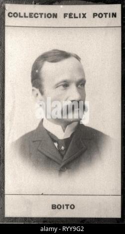Retrato fotográfico de Boito de colección Félix Potin, de principios del siglo XX. Imagen De Stock