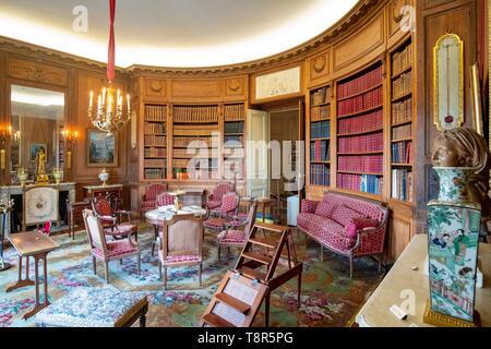 Francia, Paris, museo Nissim de Camondo, la biblioteca Imagen De Stock