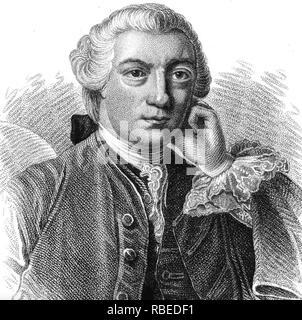 SOAME JENYNS (1704-1787), poeta inglés, escritor y político Imagen De Stock