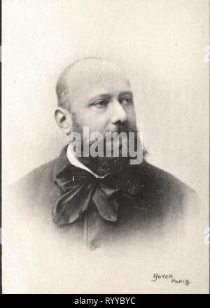 Retrato fotográfico de Sylvestre de colección Félix Potin, de principios del siglo XX. Imagen De Stock