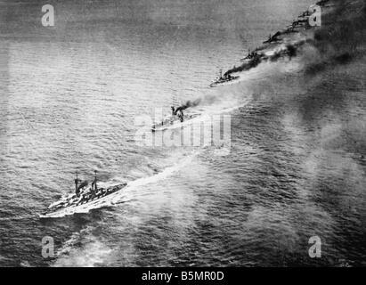9 1916 5 31 A1 18 E Batalla de Jutlandia 1916 British F EET Primera Guerra Mundial 1914 18 Batalla de Jutlandia Imagen De Stock