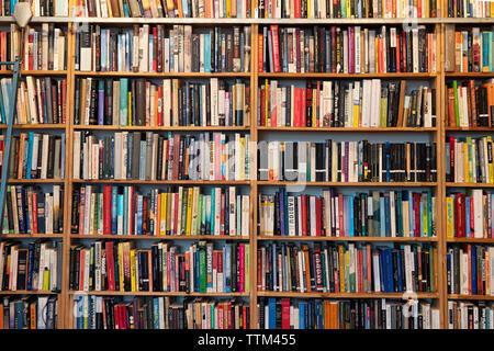Filas de libros dentro de St Georges librería de segunda mano en Prenzlauer Berg, Berlín, Alemania Imagen De Stock