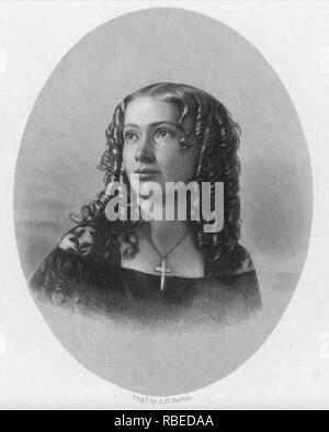 CORA VERONICA SCOTT (1840-1923) espiritualista estadounidense mediano Imagen De Stock