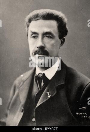 Retrato fotográfico de Frmiet Colección de Félix Potin, de principios del siglo XX. Imagen De Stock