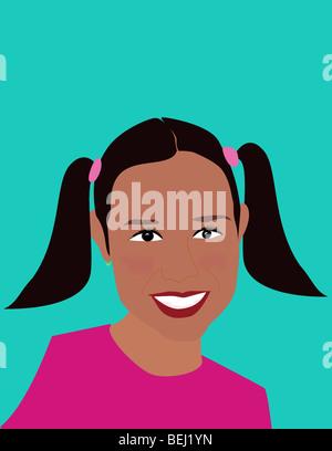 Close-up de una chica sonriente Imagen De Stock