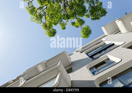 Arquitectura moderna, Kaiserkai, Hamburgo Imagen De Stock