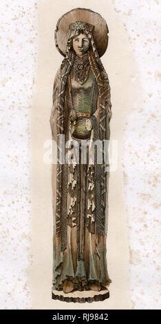 (La realeza francesa) La esposa de Clovis, Rey de los francos, y un santo en su propio derecho Imagen De Stock