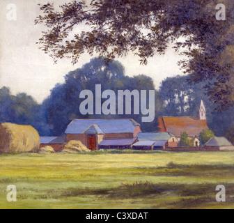 La granja, por Alfred Lys Baldry. West parlamentar, Inglaterra, 1909. Imagen De Stock