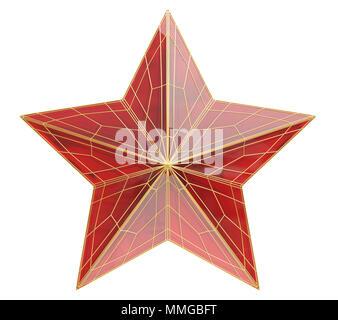 Ruby star. Ilustración 3D Imagen De Stock