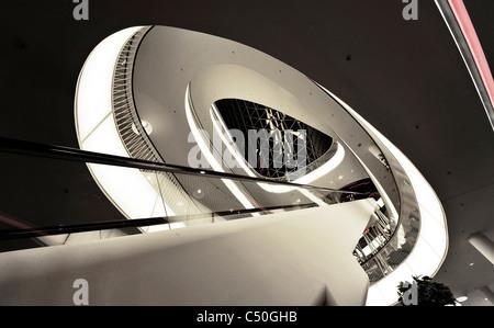 Galería Zeil, la arquitectura moderna, creativa, Frankfurt am Main, Hesse, Alemania, Europa Imagen De Stock