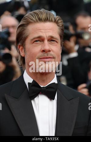 Mayo 21, 2019 - Cannes, Francia - CANNES, Francia - 21 de mayo: Brad Pitt asiste a la proyección de ''Érase una vez en Hollywood'' durante el 72º Festival Anual de Cine de Cannes el 21 de mayo de 2019 en Cannes, Francia. (Crédito de la Imagen: © Frederick InjimbertZUMA Wire) Imagen De Stock