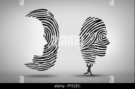 La piratería y el robo de identidad los datos personales como un hacker cyber crime concepto como un concepto de seguridad de internet en 3D de una ilustración de estilo. Imagen De Stock