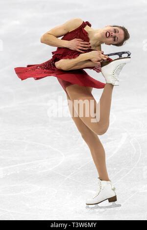 Carolina Kostner (ITA) competir en el Patinaje artístico - Corto de damas en los Juegos Olímpicos de Invierno PyeongChang 2018 Imagen De Stock