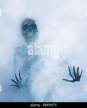 Esqueleto intenta salir de otra dimensión,3D rendering Imagen De Stock