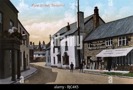 Bampton, Devon - Fore Street. Imagen De Stock