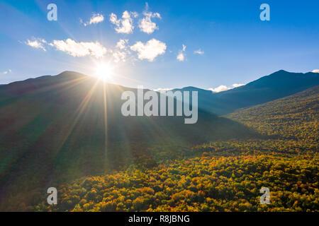 Atardecer en el Monte Washington, New Hampshire Imagen De Stock