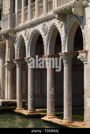 Palacio Ca' d'oro arcos, región del Veneto, Venecia, Italia Imagen De Stock