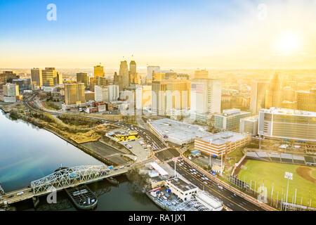 Vista aérea de Newark Nueva Jersey skyline Imagen De Stock