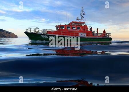 Francia, Bouches du Rhône, La Ciotat, mar salvadores SNSM, ejercicio de rescate Imagen De Stock