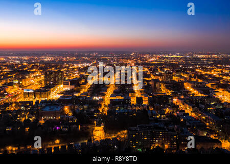 Vista aérea de Hoboken, NJ al atardecer Imagen De Stock