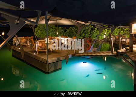 Mauricio, distrito de Flacq, Poste de Flacq, Constance Prince Maurice hotel, el Barachois Imagen De Stock