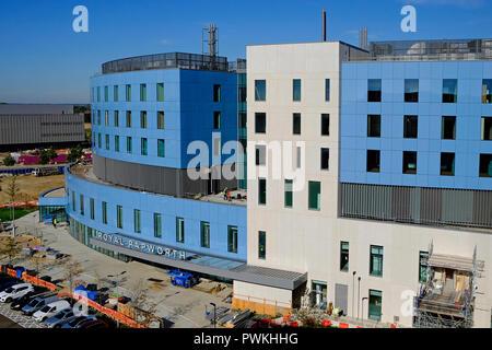 Royal papworth, bajo construcción, Addenbrooke's Hospital de la Universidad de Cambridge, Inglaterra Imagen De Stock