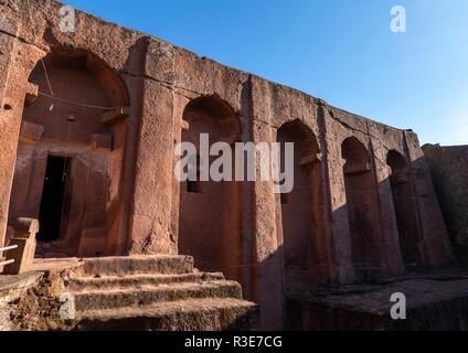 Bete gabriel rafael iglesias gemelas, la región de Amhara, Lalibela, Etiopía Imagen De Stock
