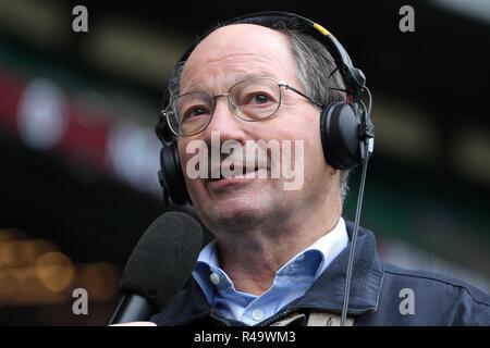 Ian Robertson Bbc comentarista Ra England V Australia, Autumn Internationals Twickenham, Londres, Inglaterra, 24 de noviembre de 2018 Créditos: Allstar Picture Library/Alamy Live News Imagen De Stock