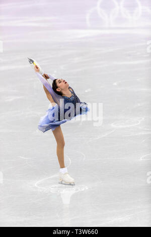 Medvedeva Evgenia (OAR) competir en el Patinaje artístico - Corto de damas en los Juegos Olímpicos de Invierno PyeongChang 2018 Imagen De Stock