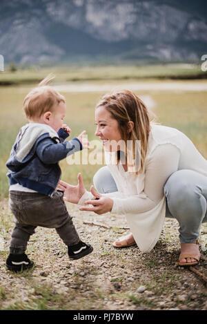 Afectuosa madre e hijo Imagen De Stock