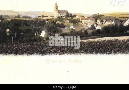 (Leuben-Schleinitz Leuben) 1899, Landkreis Meißen, Leuben, Gesamtansicht, Alemania Imagen De Stock