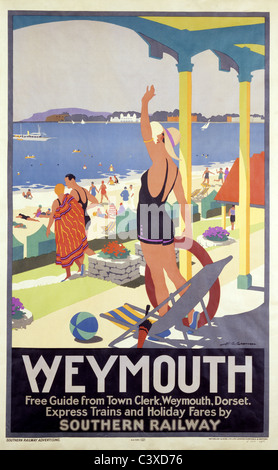 Weymouth, por H.G. Gawthorne. Inglaterra, de principios del siglo XX. Imagen De Stock