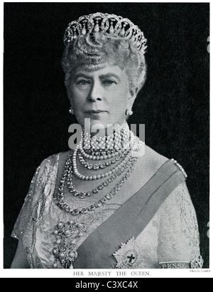Su Majestad la Reina, la reina María, desde el programa de recuerdo del Rey George's Jubilee, foto, publicado Imagen De Stock