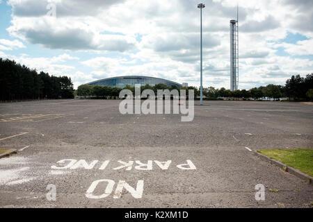 Aparcamiento del Centro SEC vacía, Glasgow Imagen De Stock