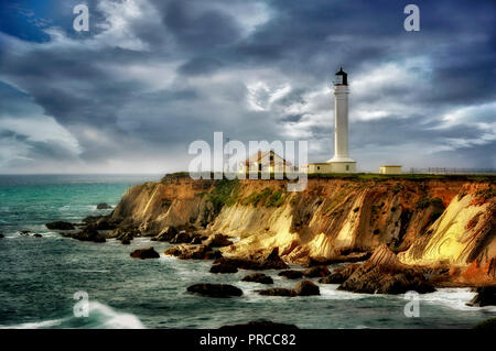 Faro de Point Arena. California Imagen De Stock