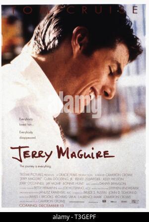 Jerry Maguire Año : 1996 EE UU Director: Cameron Crowe Tom Cruise Movie poster (EE.UU.) Imagen De Stock