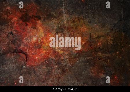 Un muy detallado de grunge, metal oxidado como textura de fondo de la imagen un angustiado con arañazos. Imagen De Stock