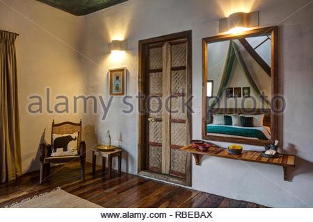 Dormitorio. Jalakara Villa Hotel, Islas Andamán y Nicoar, India. Arquitecto: Ajith Andagere, 2016. Imagen De Stock