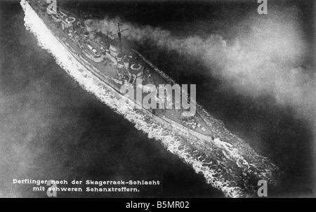 9 1916 5 31 A1 1e la Primera Guerra Mundial Jutlandia Skagerrak 1916 Primera Guerra Mundial 1914 18 Batalla de Jutlandia Imagen De Stock