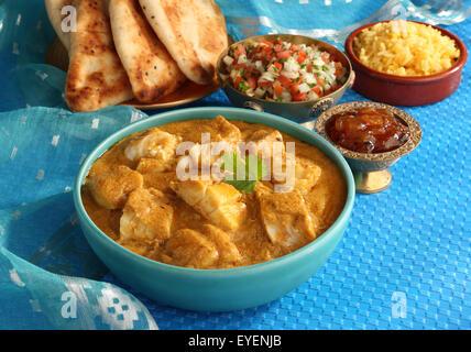 Bengalí indio curry de pescado Imagen De Stock