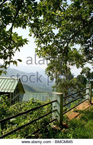 En vista de Hill Top PONMUDI, Kerala Imagen De Stock